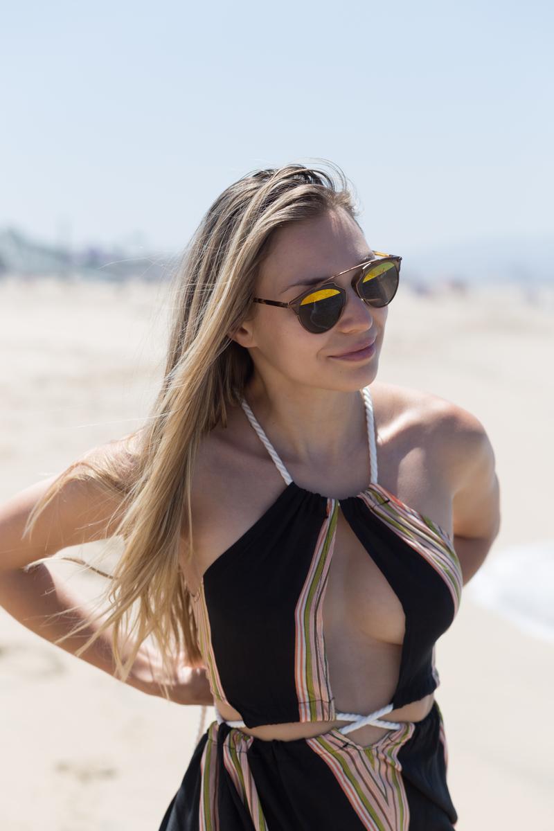 dress, dresses, sonja kovac, summer dress, LA, los angeles, manhattan beach, california, long dress, beach, zafu