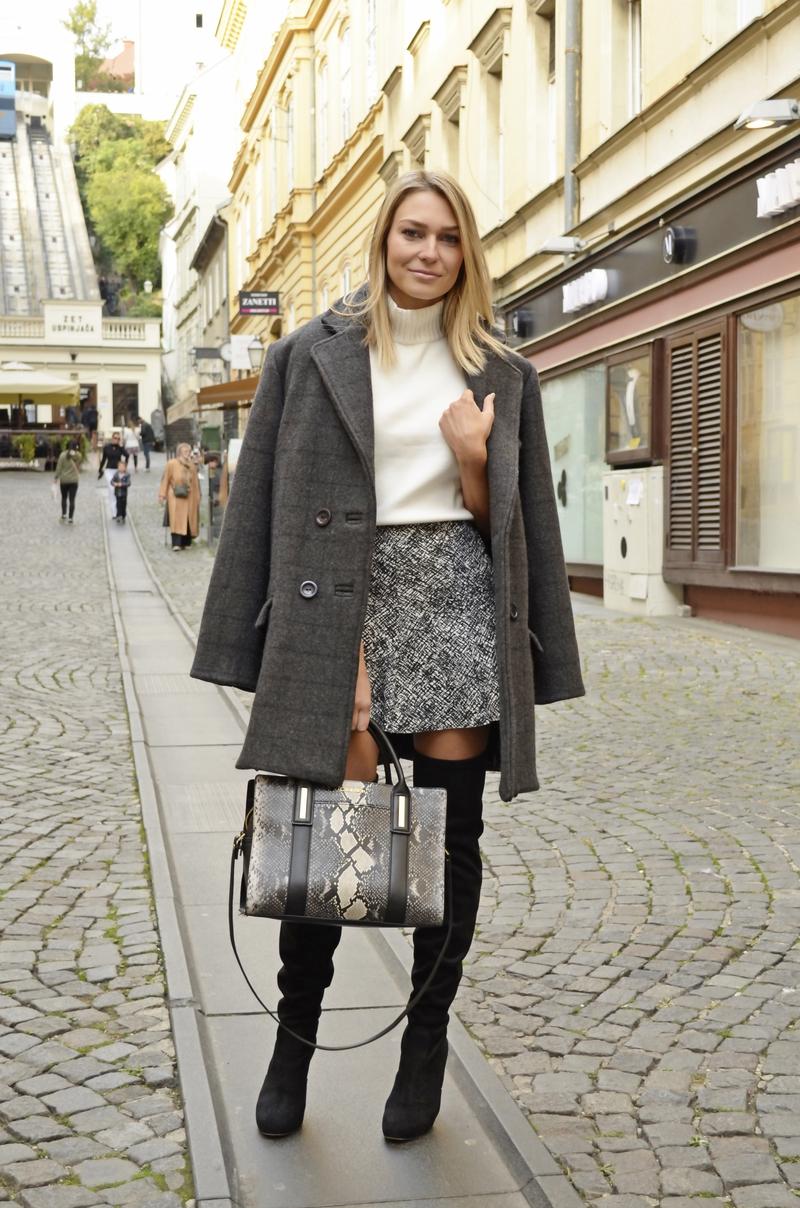 X oversized coatX coatX robert severX over-the-knee bootsX zaraX skirtX calvin kleinX bagX boots