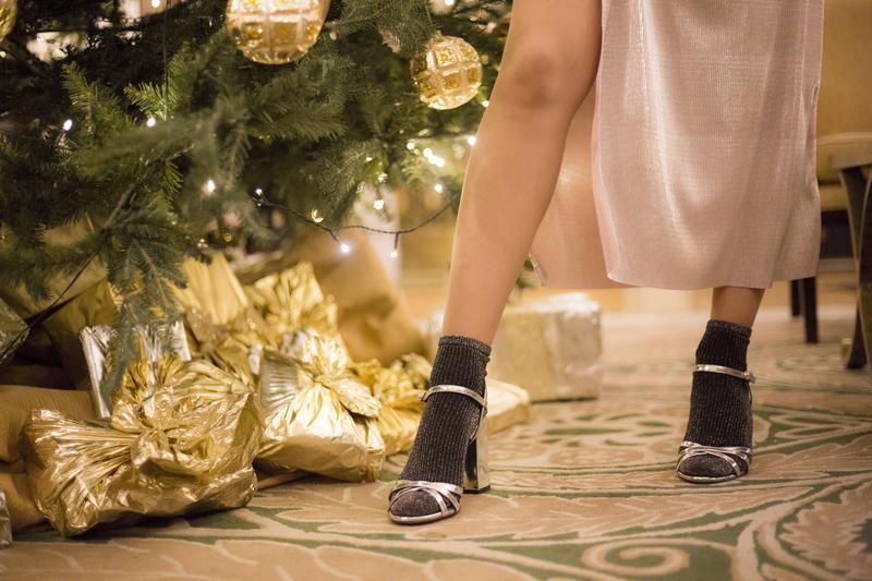 X hmX dressX slip dressX chokerX sandalsX silverX glitter socksX socks