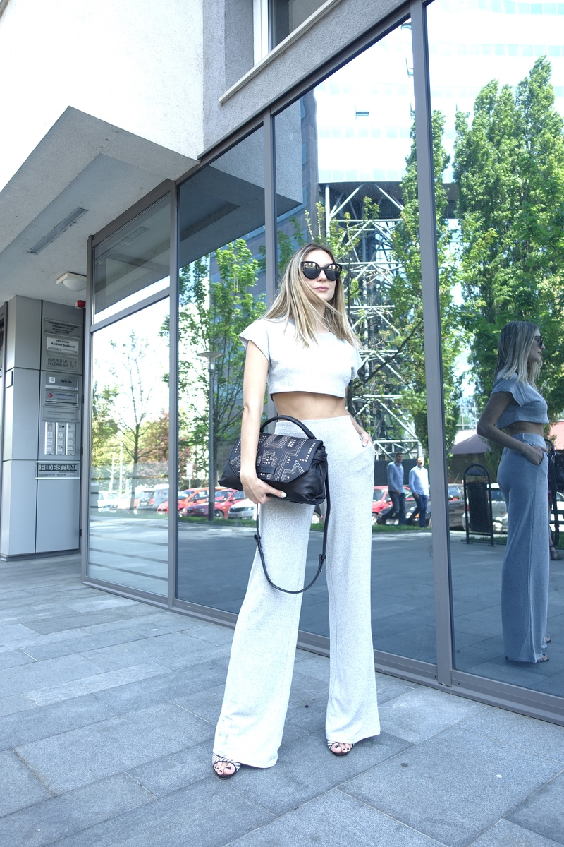 X liebeskind berlinX liebeskindX bagX leather bagX studded bagX black leather bagX crop topX high waist pantsX sunglassesX fendiX fendi sunglasses