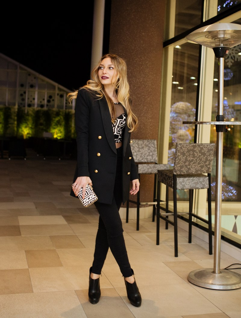 balmain for hm, balmain, h&m, balmaination, balmain, blazer, jacket, elegant look, monochrome, black