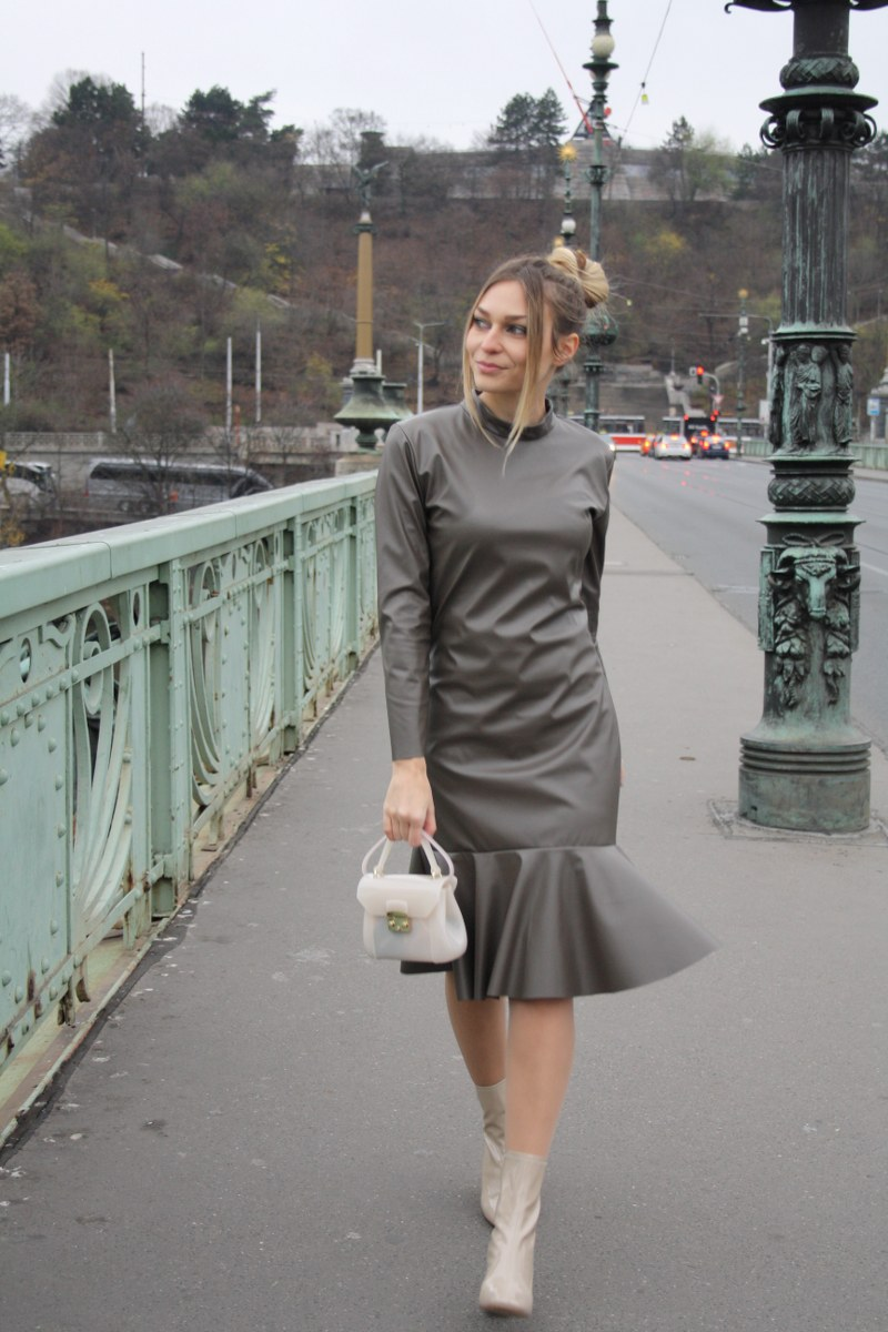 dress, Larie -Marina Lacković, winter, furla, bag, zara, booties, coat, scarf, h&m,