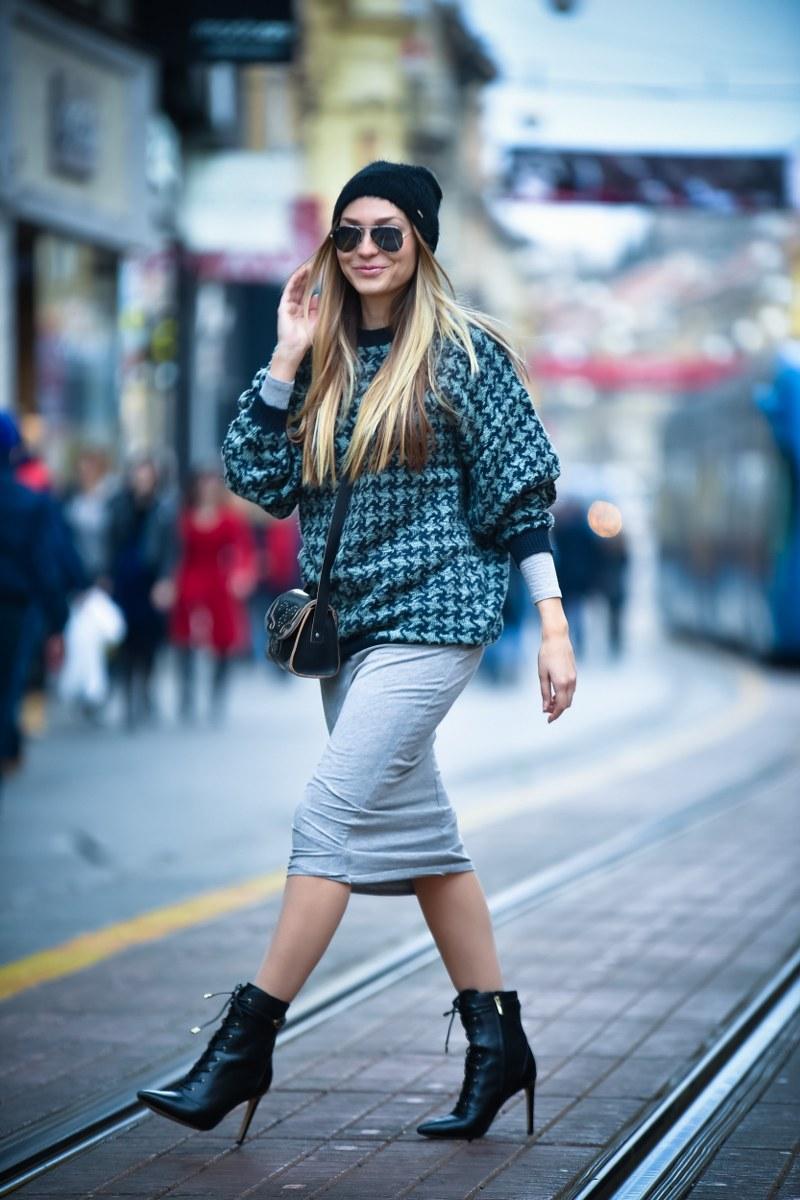 asos, oversized sweater, boots, sam edelman, bag, zara, hat, sunglasses, ray ban
