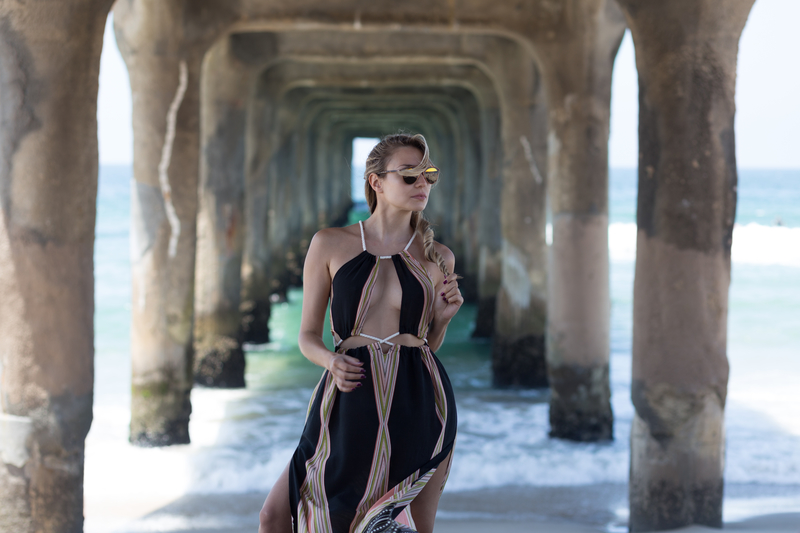 dress, dresses, sonja kovac, summer dress, LA, los angeles, manhattan beach, california, long dress, beach, zafu