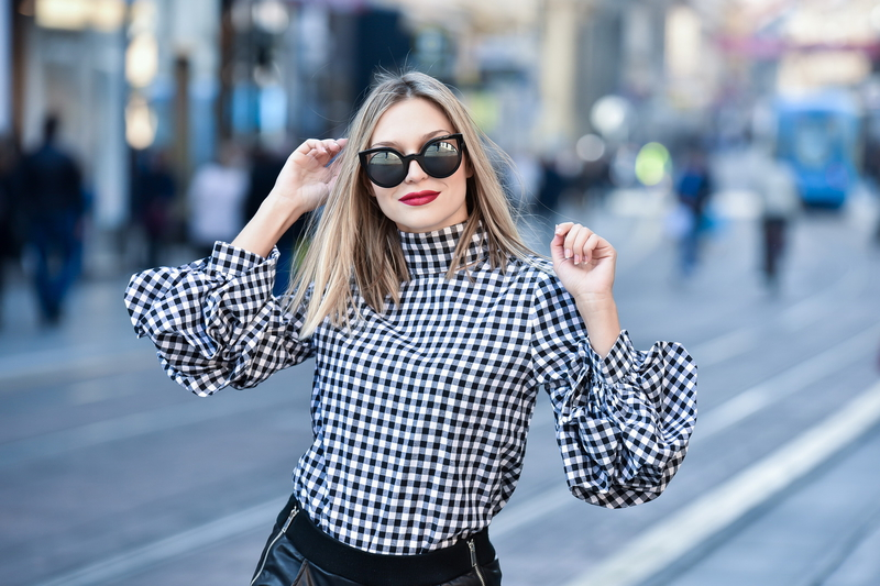 X gingham shirtX shirtX sheinX leather pantsX zaraX leather bootsX solewishX sunglassesX fendiX fendi sunglassesX endi centarX dramatic sleeves